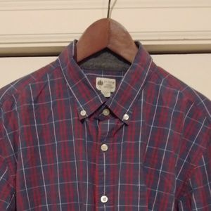 J Crew washed tartan button-down shirt